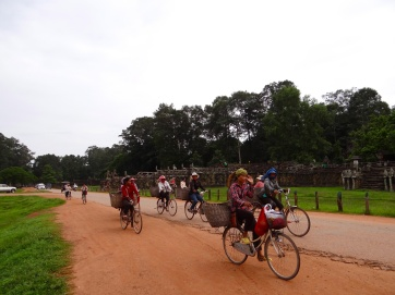 Cyclists at Angkor